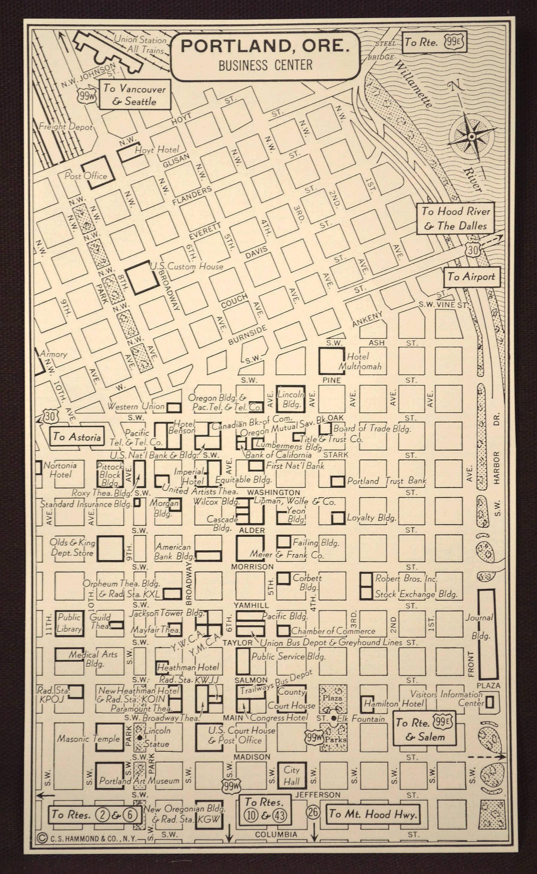 Portland Map Portland Street Map Original Oregon Wall Art With Most Popular Portland Map Wall Art (View 9 of 20)