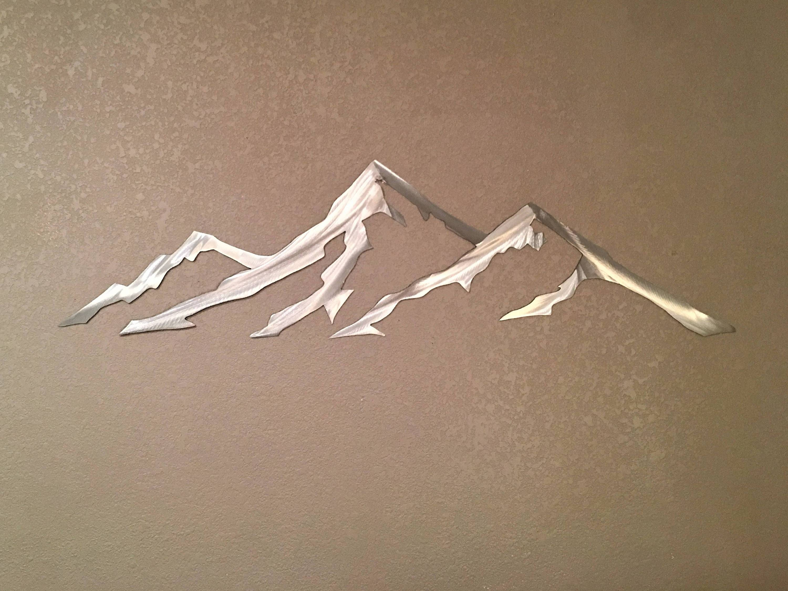 Quandary Peak 14,271 Feet. Colorado 14Er. Metal Wall Art (View 13 of 20)