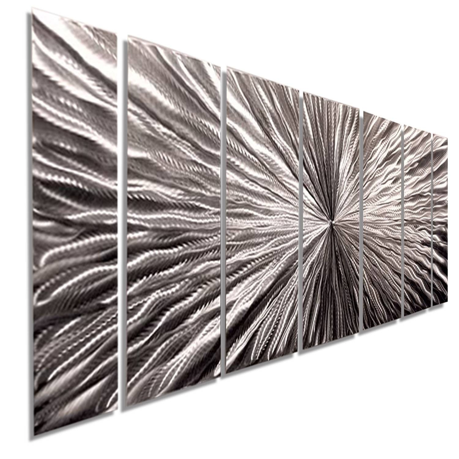 Radiant Velocity – Silver Contemporary Metal Wall Artjon Allen With Regard To Recent Silver Metal Wall Art (View 11 of 20)