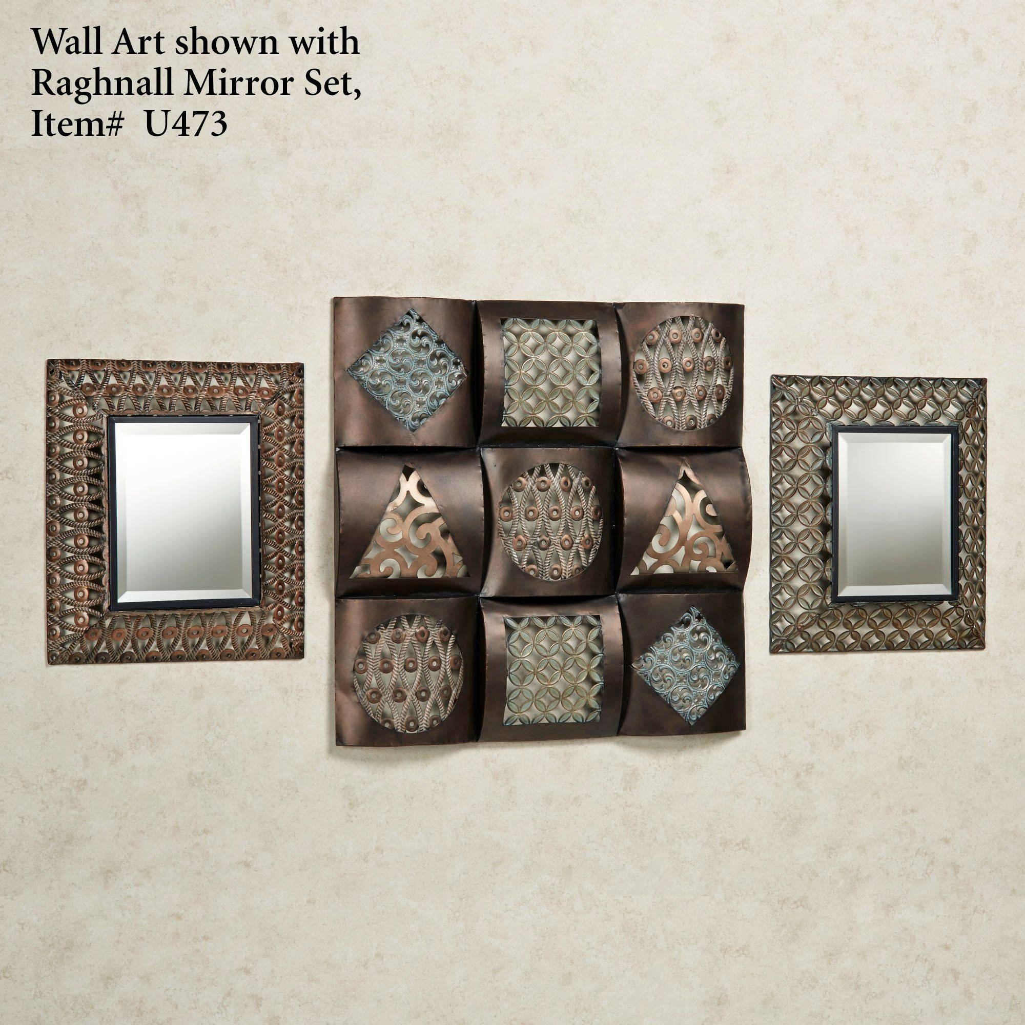 Raghnall Square Metal Wall Art In Best And Newest Square Metal Wall Art (View 6 of 20)
