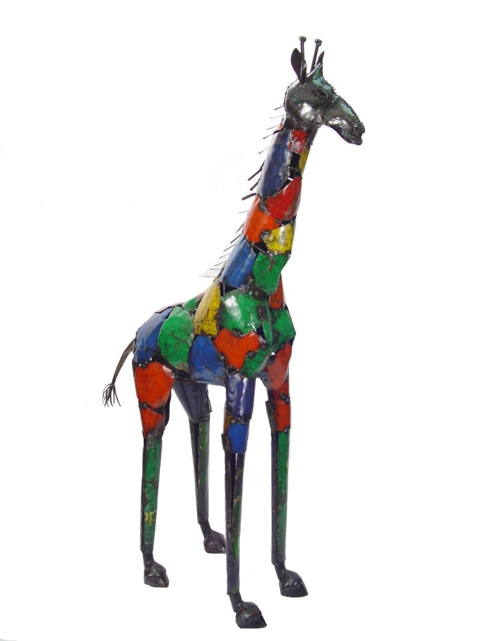 Recycled Metal Giraffe| African Wall Art And Décor| Mbare Ltd In Most Popular Giraffe Metal Wall Art (View 8 of 20)