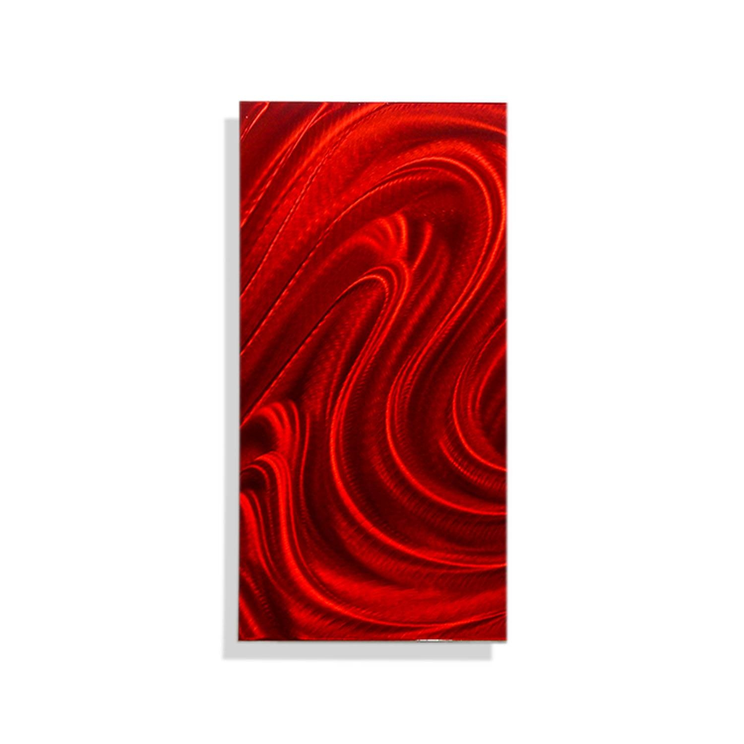 Red Mirage Solo – Red Metal Wall Art – Single Panel Wall Décor For Most Up To Date Red Metal Wall Art (Gallery 2 of 20)