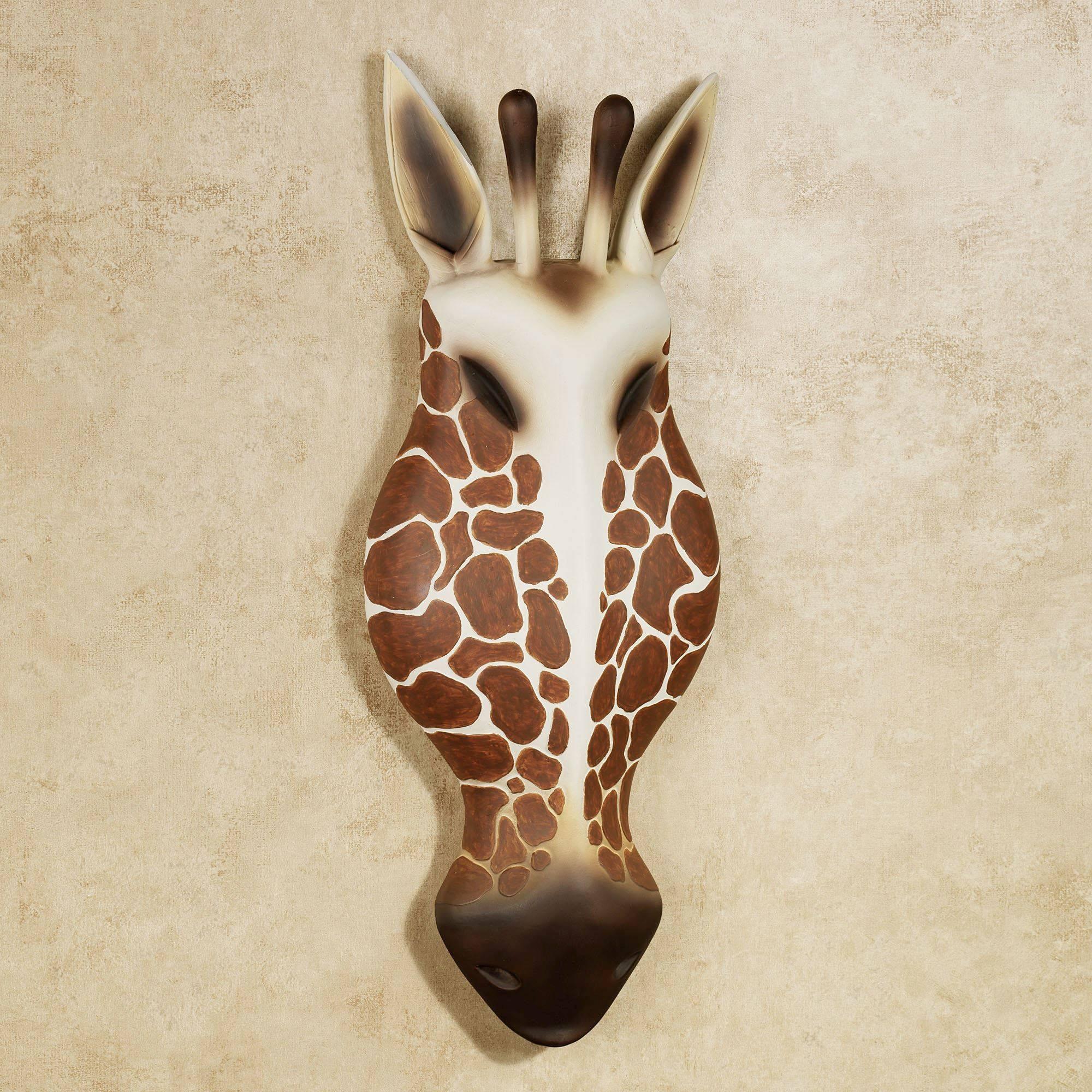 Resin Giraffe Head Wall Art Intended For Latest Giraffe Metal Wall Art (Gallery 4 of 20)