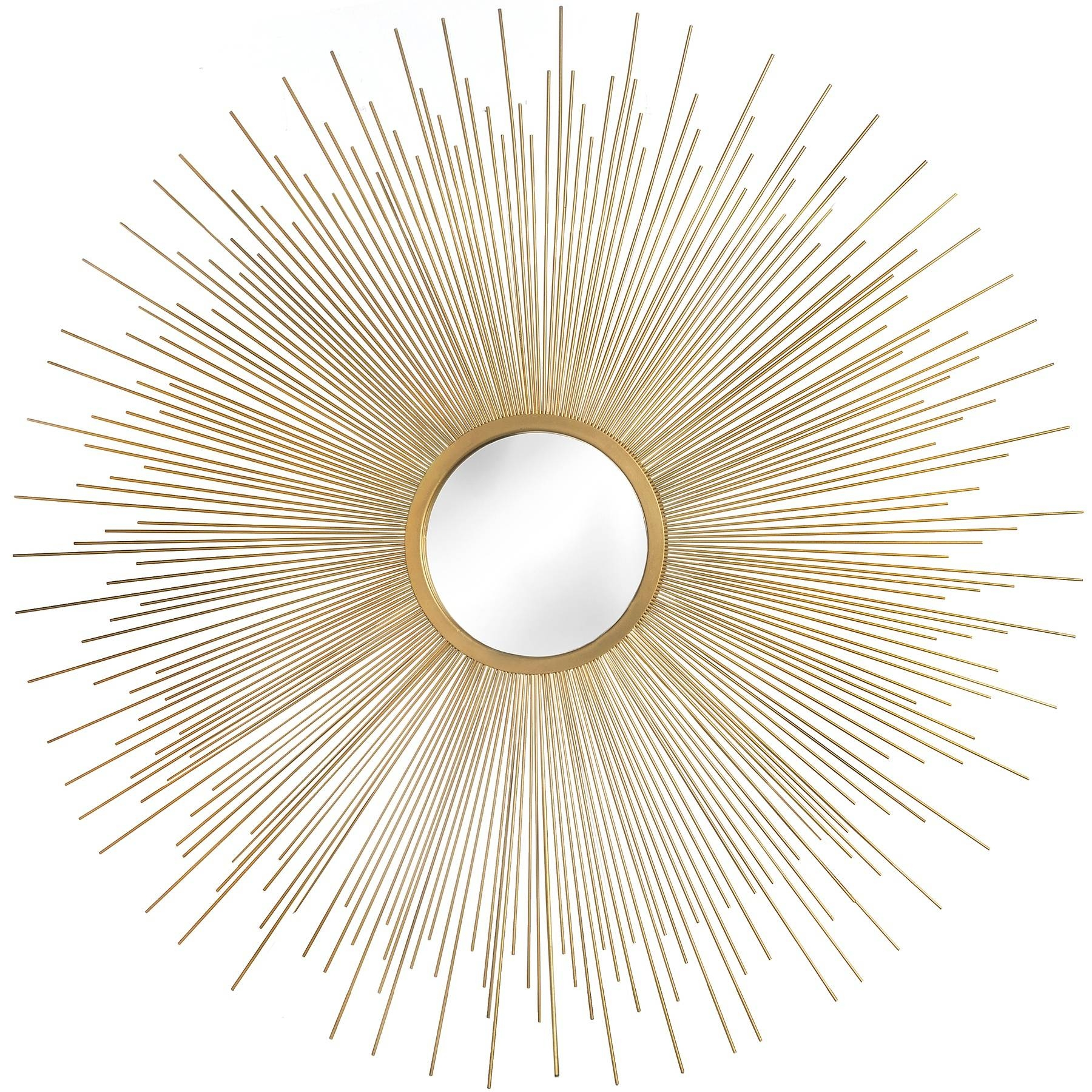 Rising Sun Gold Metal Wall Art Mirror | From Baytree Interiors With Current Gold Metal Wall Art (View 14 of 20)