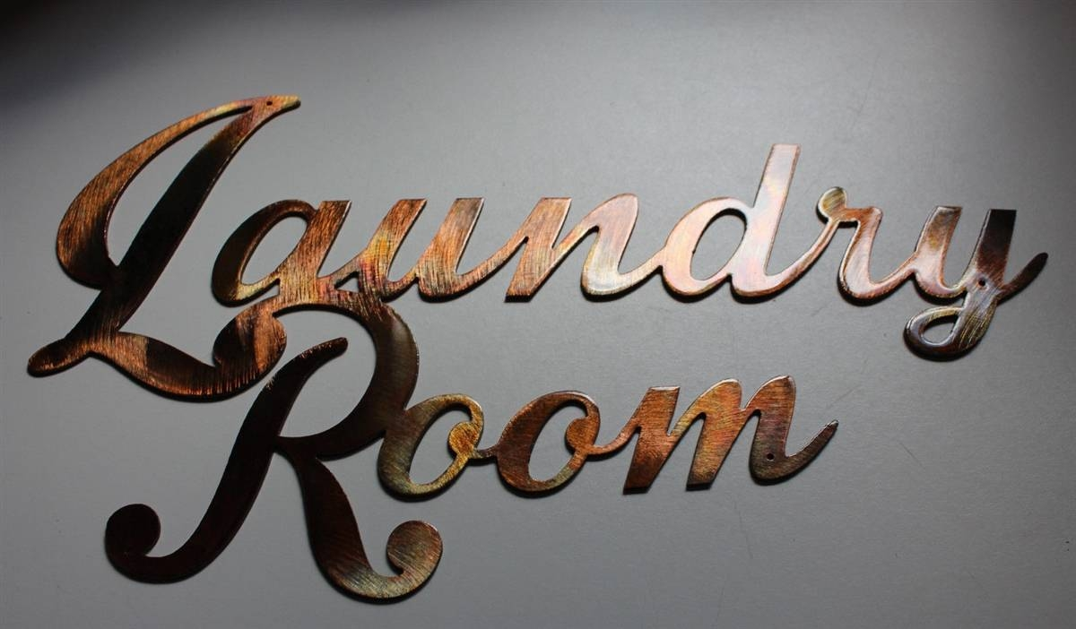 Room Sign Metal Wall Art Decor Copper/bronze Plated Regarding Newest Bronze Metal Wall Art (View 19 of 20)