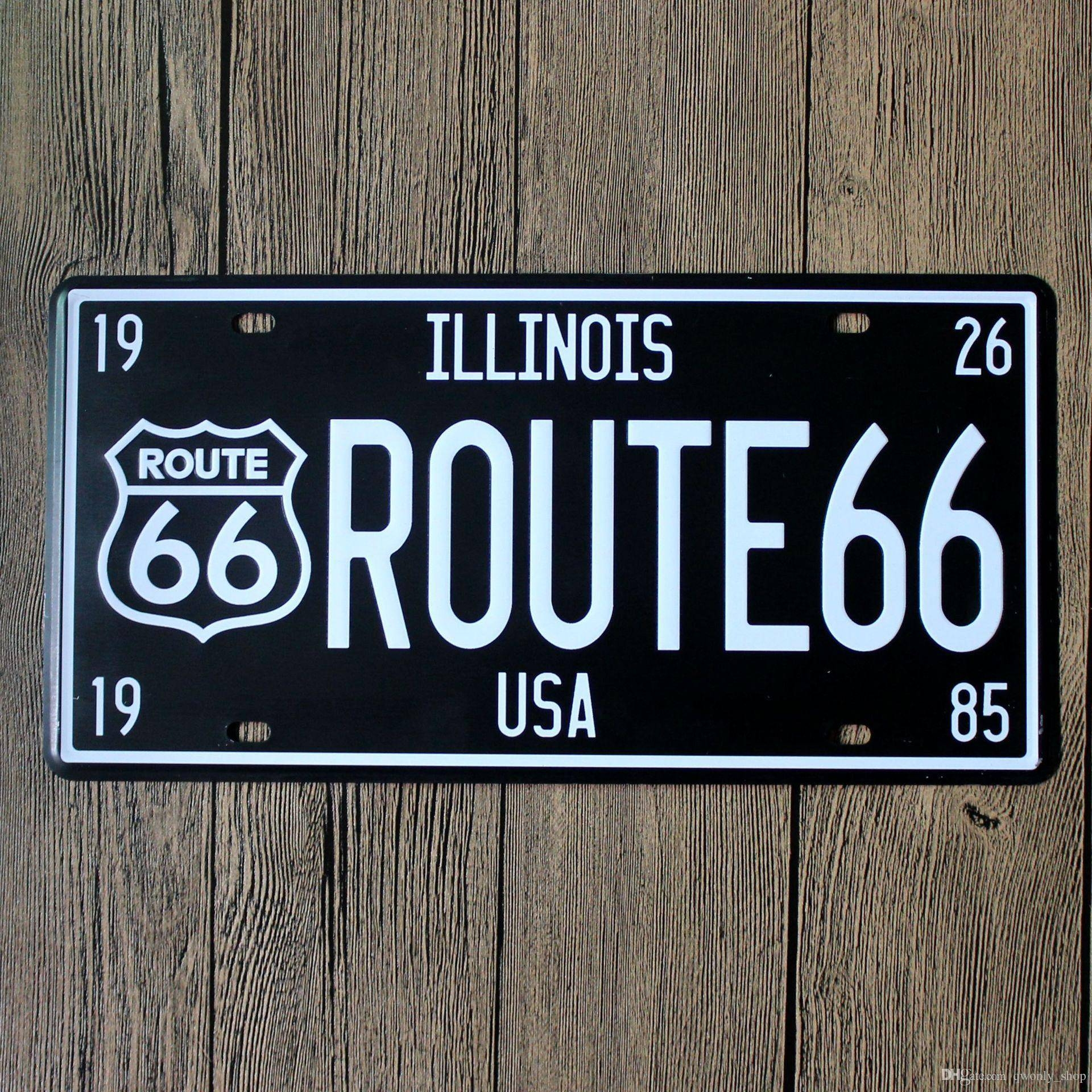 Route Usa 66 Vintage Craft Tin Sign Retro Metal Painting Antique Within Most Recent Retro Metal Wall Art (Gallery 18 of 20)