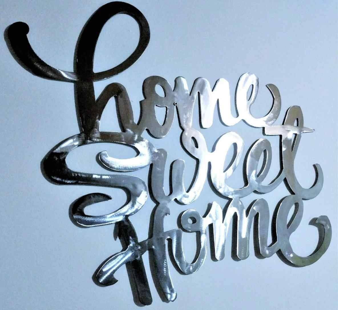 Featured Photo of Home Sweet Home Metal Wall Art