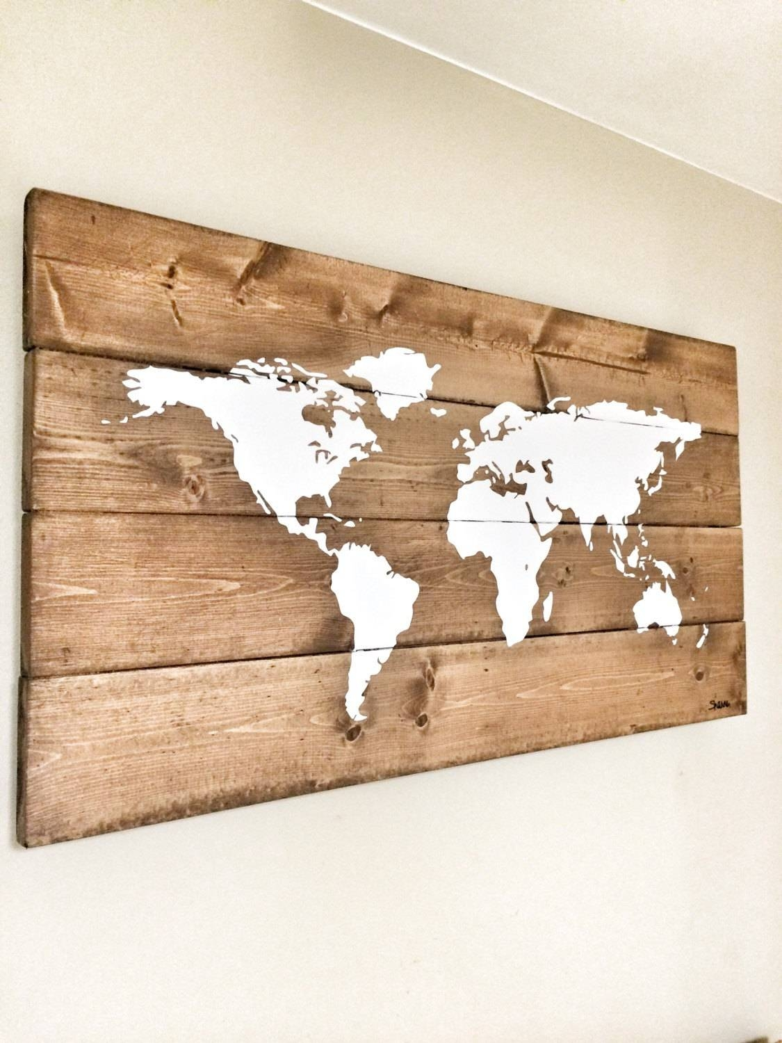 20 The Best Wood Map Wall Art