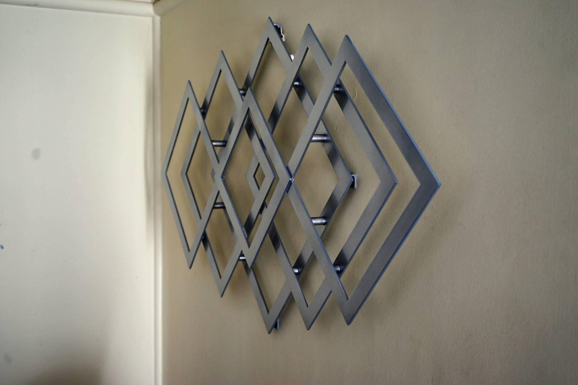 Saatchi Art: Geometric Metal Wall Art Sculpturealdo Milin In Latest Geometric Metal Wall Art (View 3 of 20)
