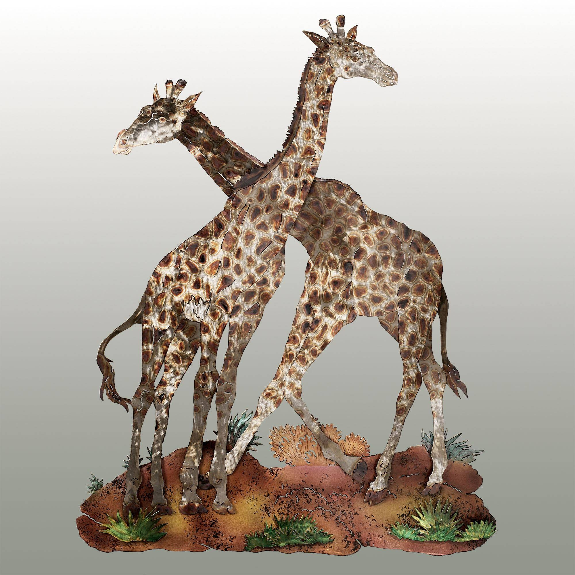 Sahara Pride Giraffe Metal Wall Sculpture Regarding Best And Newest Animal Metal Wall Art (View 4 of 20)