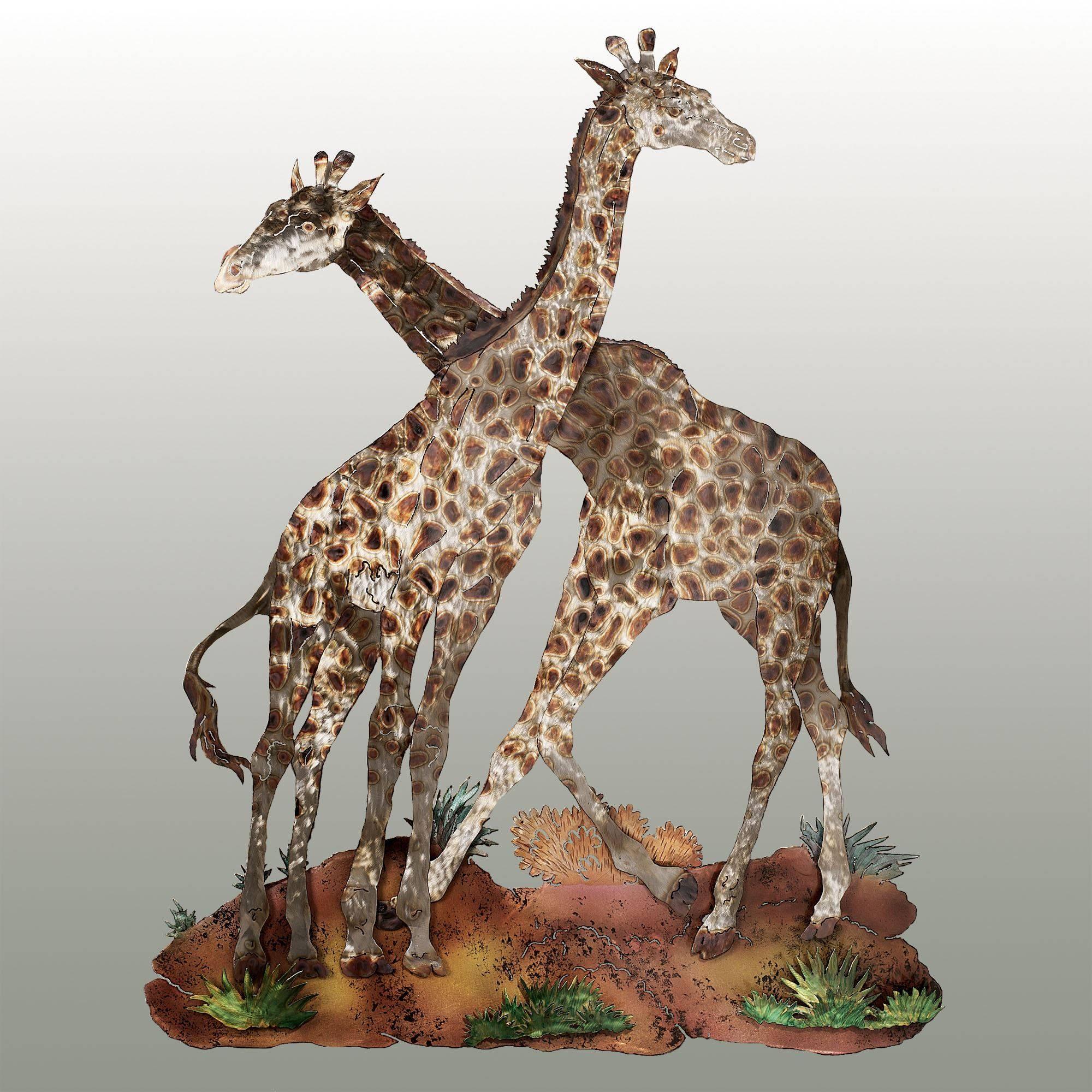 Sahara Pride Giraffe Metal Wall Sculpture Regarding Best And Newest Animal Metal Wall Art (View 13 of 20)