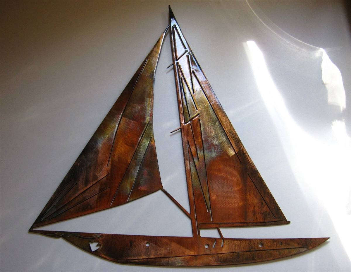 Sailboat Metal Wall Art Within Current Nautical Metal Wall Art (View 12 of 20)
