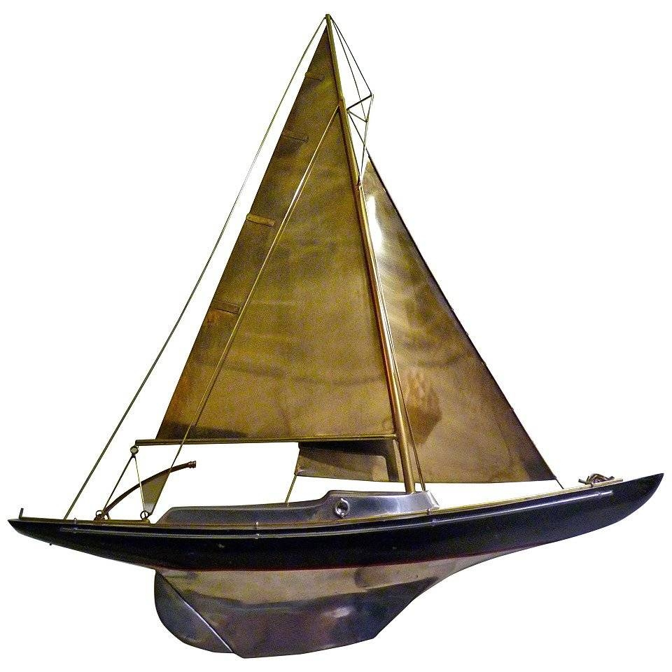 Sailboat Wall Sculpturecurtis Jere For Sale At 1stdibs Pertaining To Best And Newest Metal Wall Art Boats (View 15 of 20)