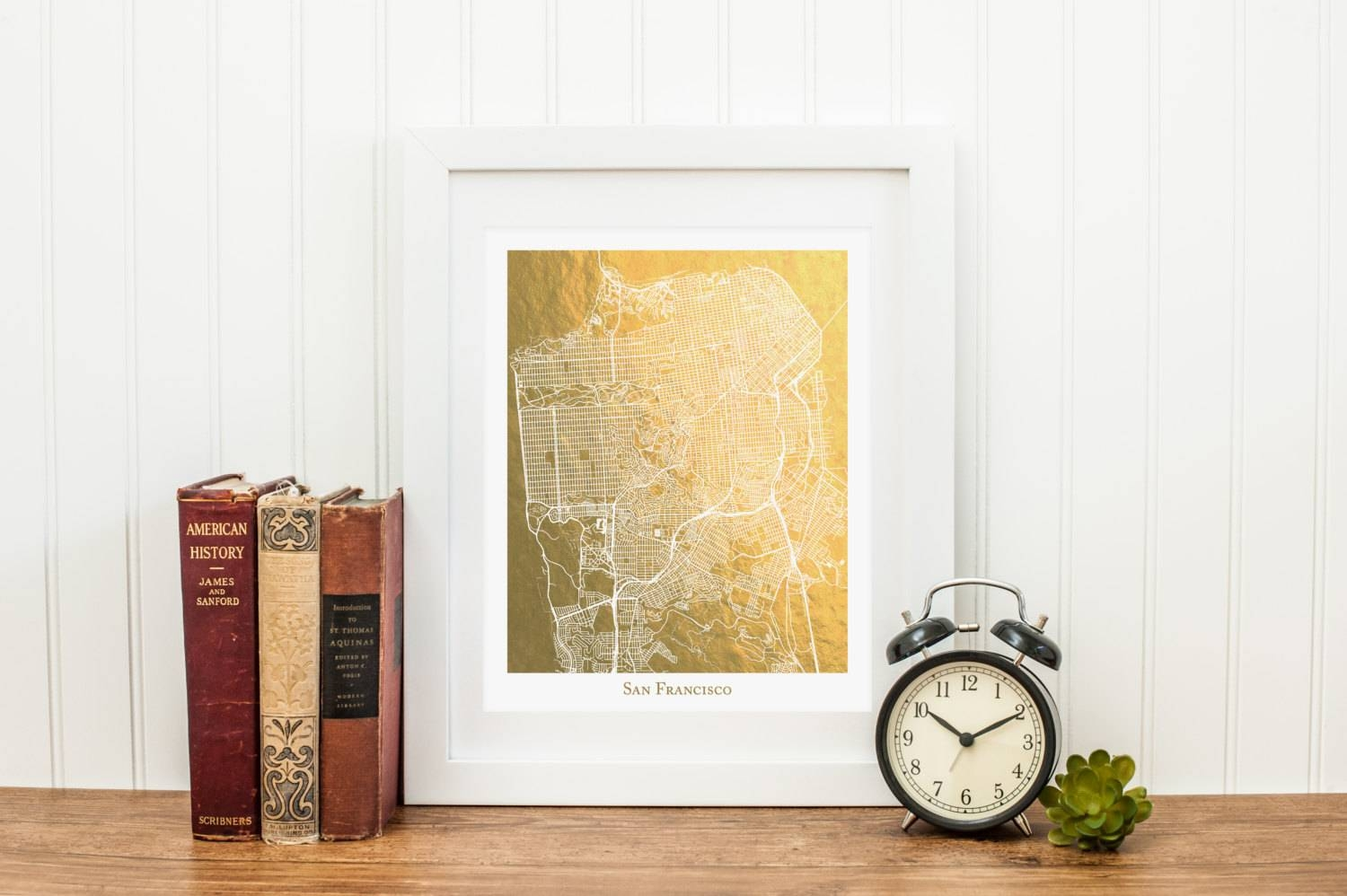 San Francisco Map Gold Foil Print San Francisco Print Gold With Regard To Most Up To Date San Francisco Map Wall Art (View 7 of 20)