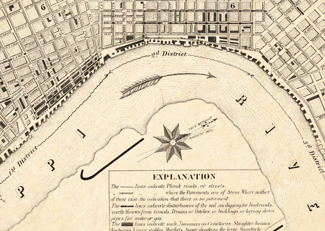 Sanitary Map Of New Orleans – Epidemiology Science – Old Maps And With Regard To Best And Newest New Orleans Map Wall Art (View 18 of 20)