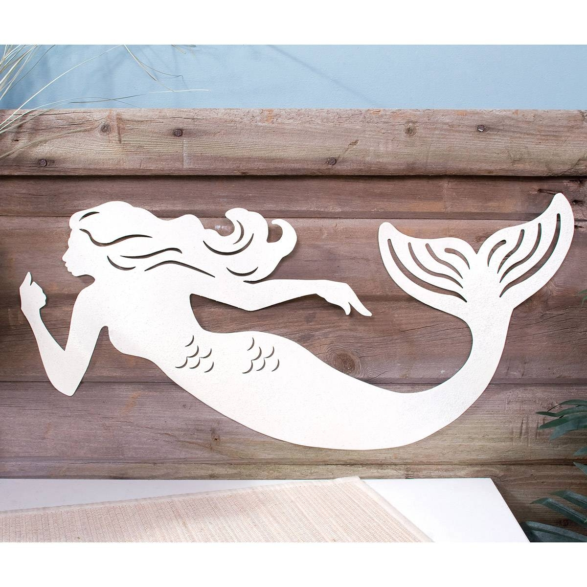 Sea Chic Mermaid Silhouette Metal Sign | Beach Decor | Retroplanet For Latest Mermaid Metal Wall Art (View 19 of 20)