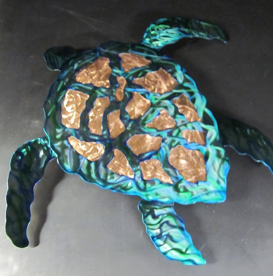 Sea Turtle Abstract Wall Sculpture Sculpturerobert Blackwell Regarding Most Recent Turtle Metal Wall Art (View 5 of 20)