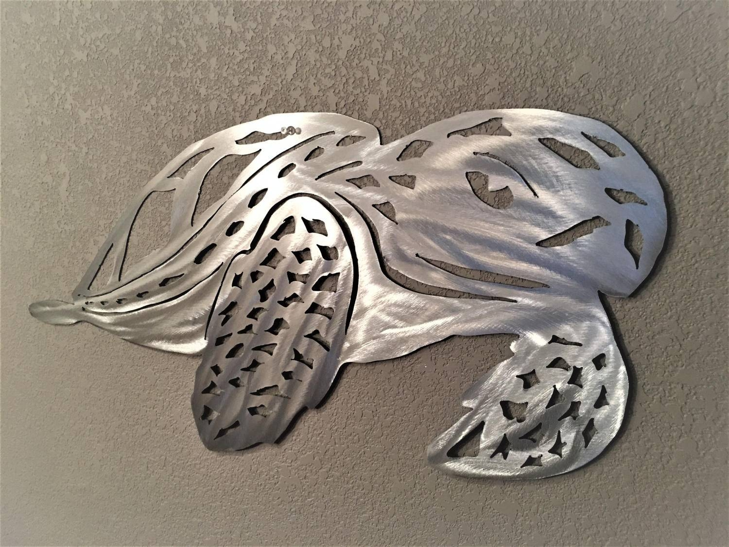Sea Turtle Metal Wall Art. Green Turtle Wall Artwork (View 7 of 20)
