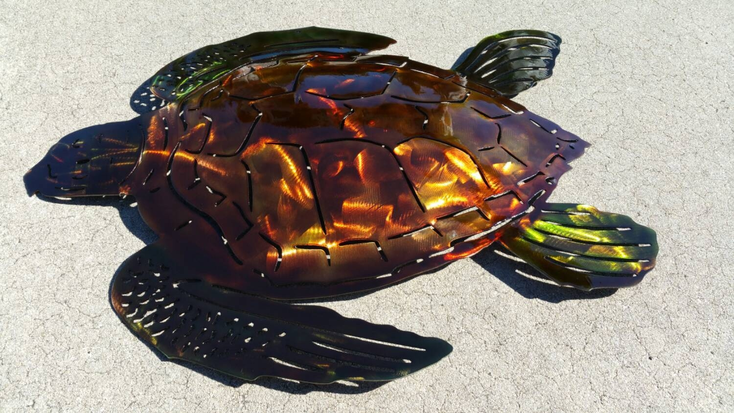 Sea Turtle Wall Art, Metal Wall Art Sea Turtle, Outdoor Art, Beach In Most Current Sea Turtle Metal Wall Art (View 9 of 20)