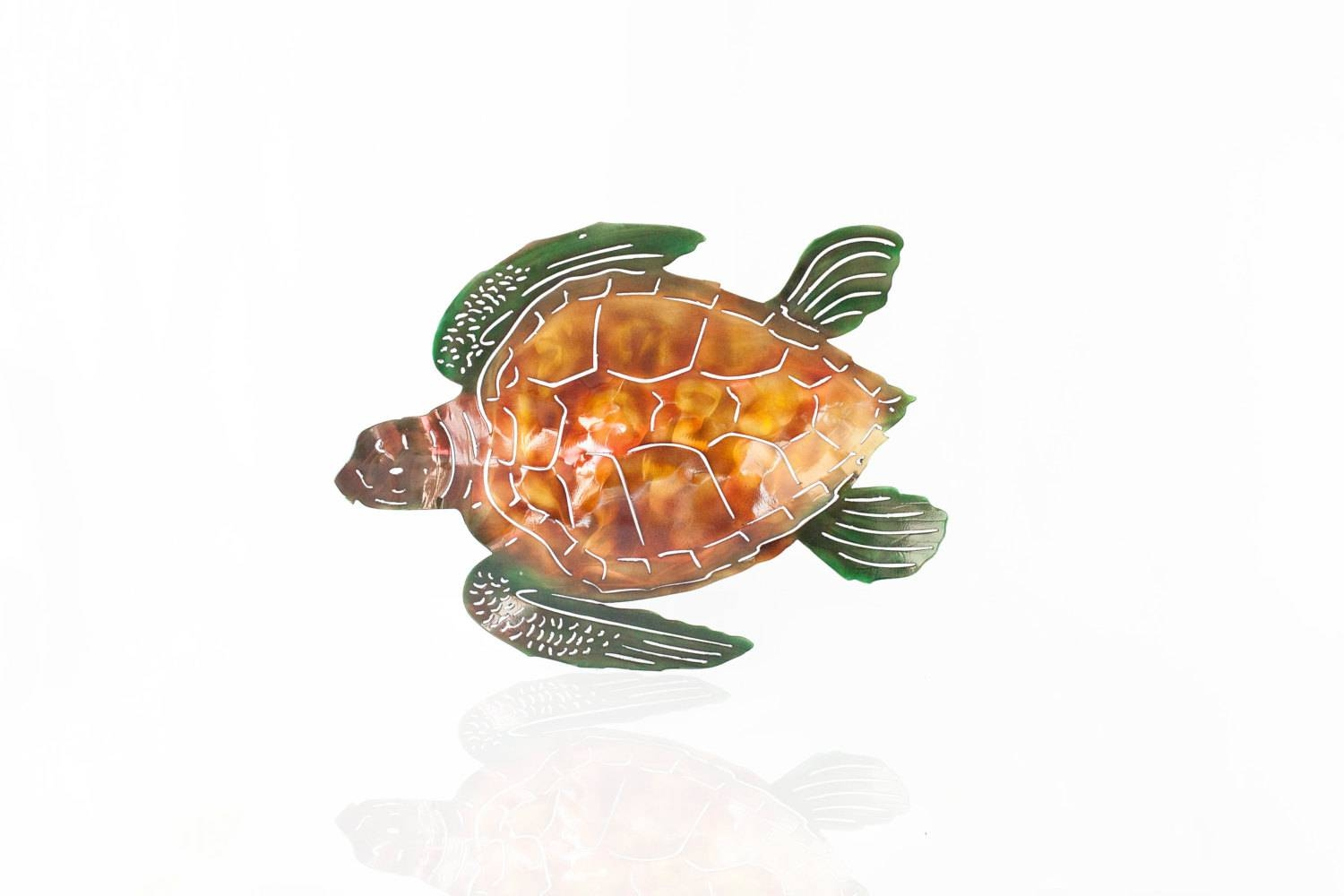 Sea Turtle Wall Art, Metal Wall Art Sea Turtle, Outdoor Art, Beach With Regard To 2018 Turtle Metal Wall Art (View 13 of 20)