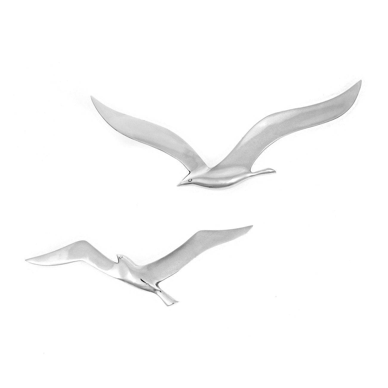 Seagull Bird – Handmade Metal Wall Art Decor – Silver, Small 27cm With Best And Newest Seagull Metal Wall Art (View 9 of 20)