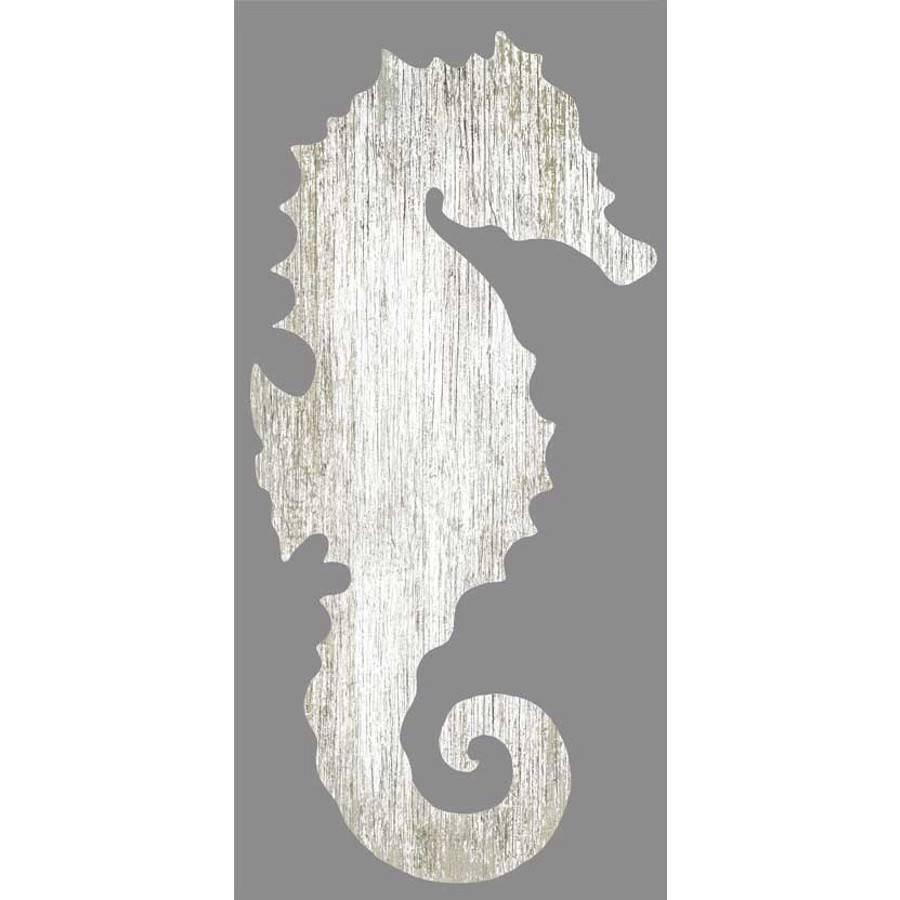 Seahorse Silhouette Facing Right Wall Art – White – Beach Décor Shop In Most Current Seahorse Metal Wall Art (View 15 of 20)