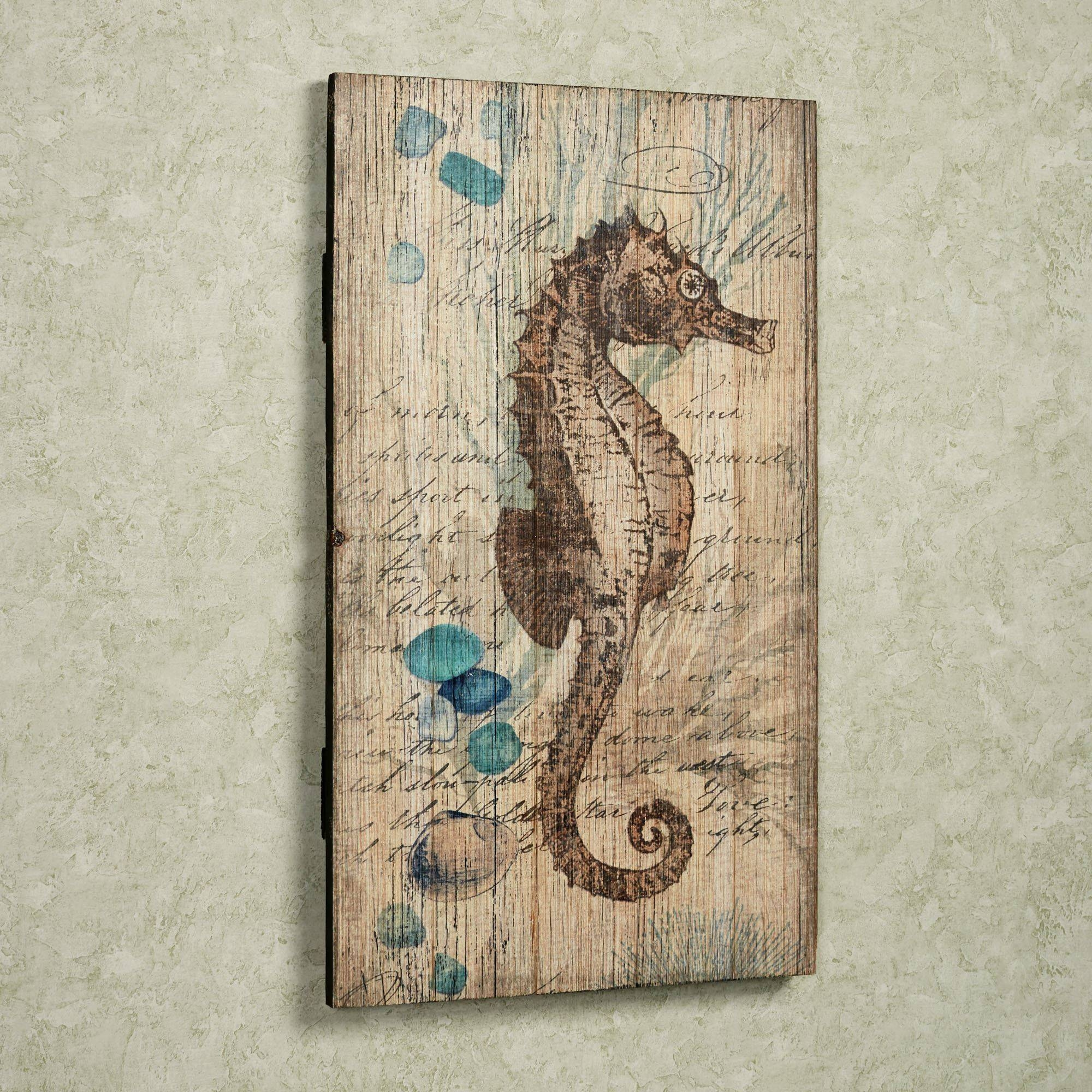 Seahorse Vintage Sign Wall Art Regarding Best And Newest Seahorse Metal Wall Art (View 18 of 20)