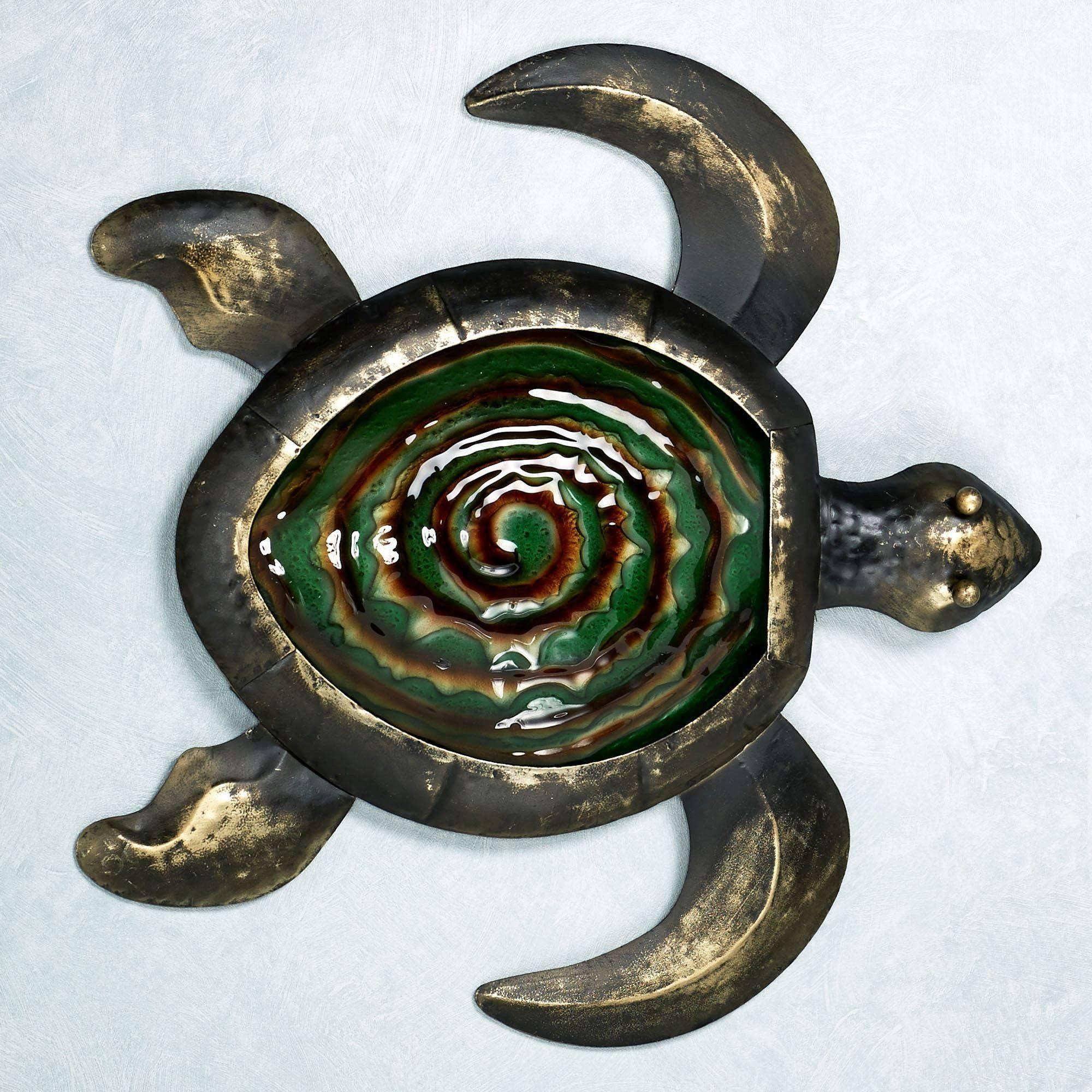 Sealife Indoor Outdoor Glass Metal Wall Art In Most Recent Turtle Metal Wall Art (View 8 of 20)