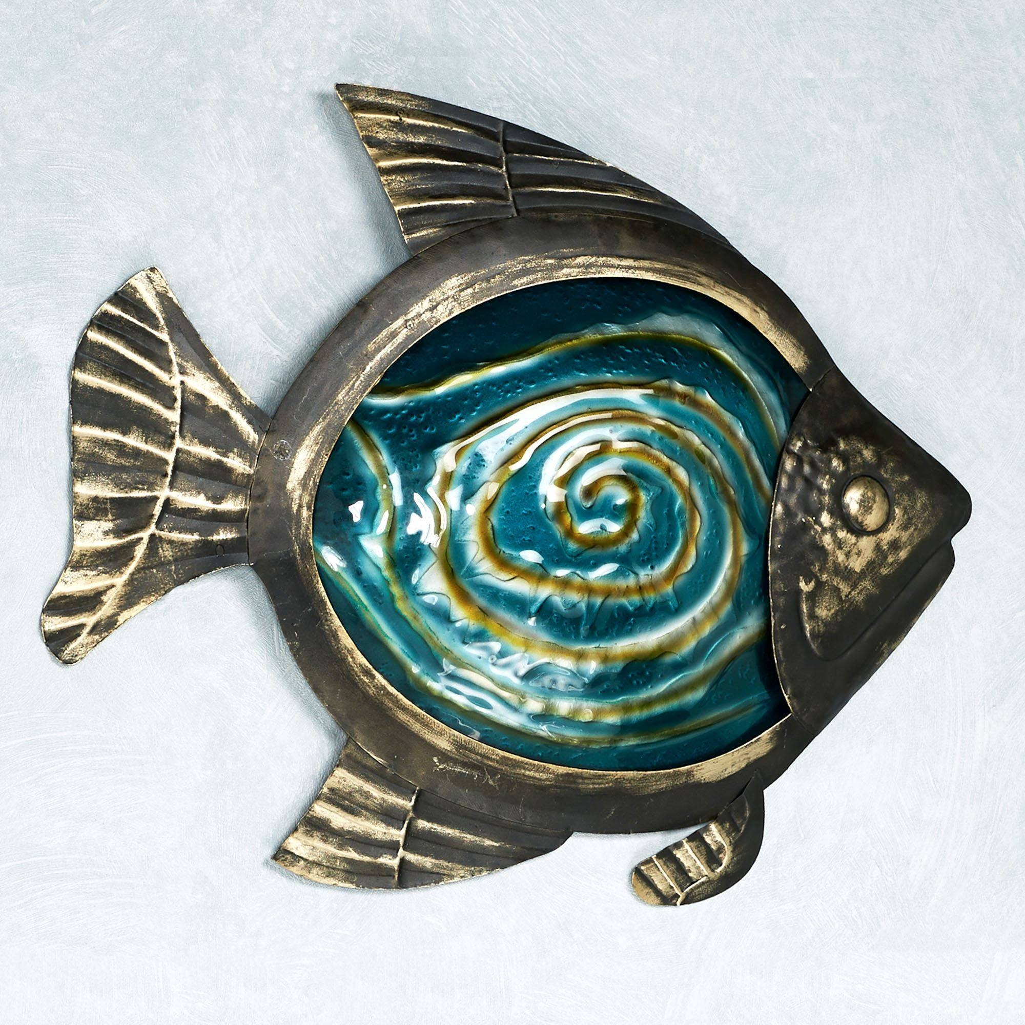 Sealife Indoor Outdoor Glass Metal Wall Art With Regard To Most Recently Released Indoor Metal Wall Art (View 12 of 20)