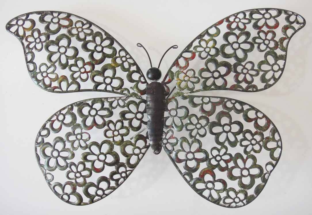 Shabby Chic Butterfly Wall Art   Wallartideas Regarding 2017 Butterflies Metal Wall Art (View 14 of 20)