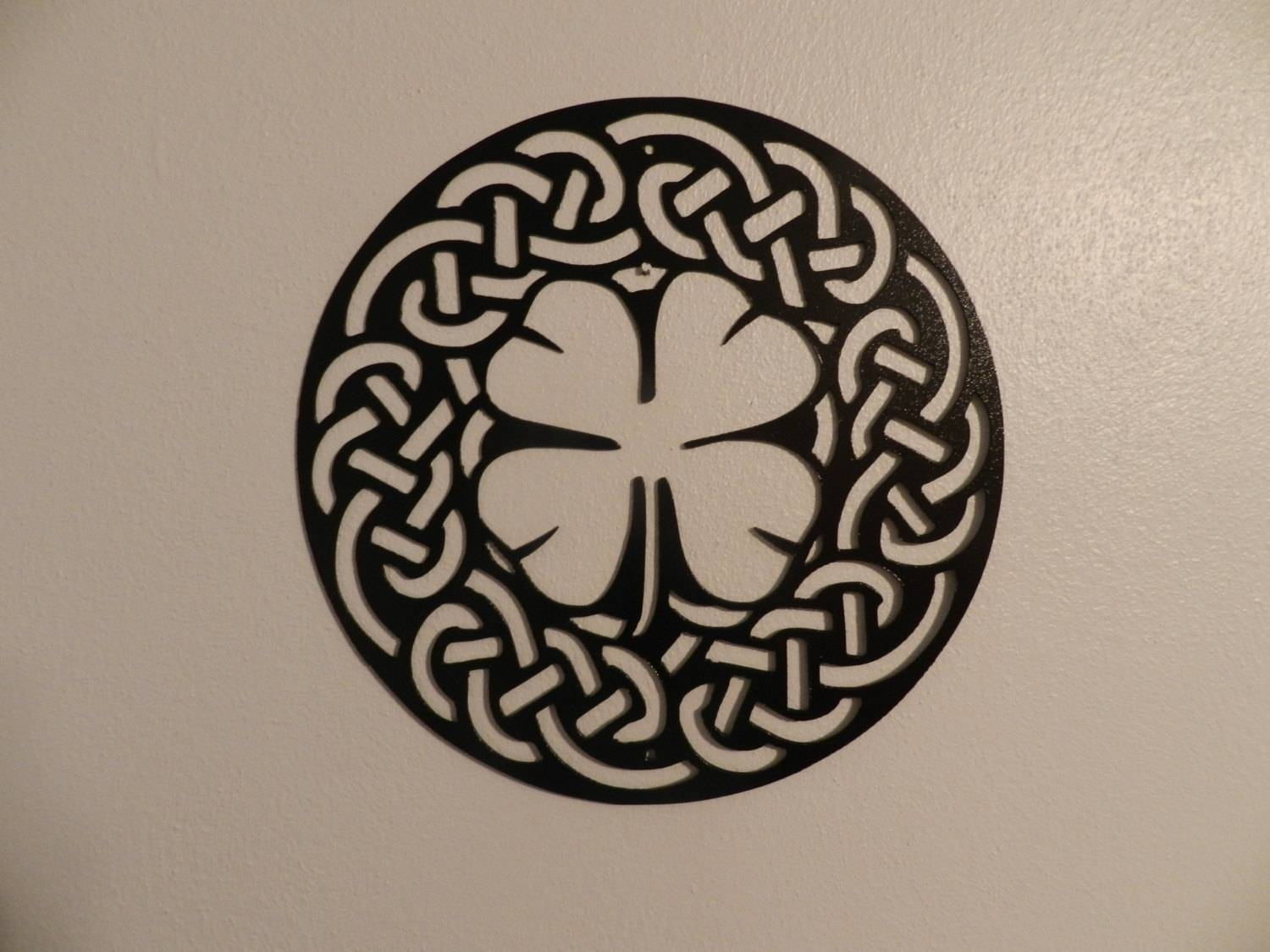 Shamrock Celtic Knot Metal Wall Art Pertaining To Latest Celtic Metal Wall Art (View 9 of 20)