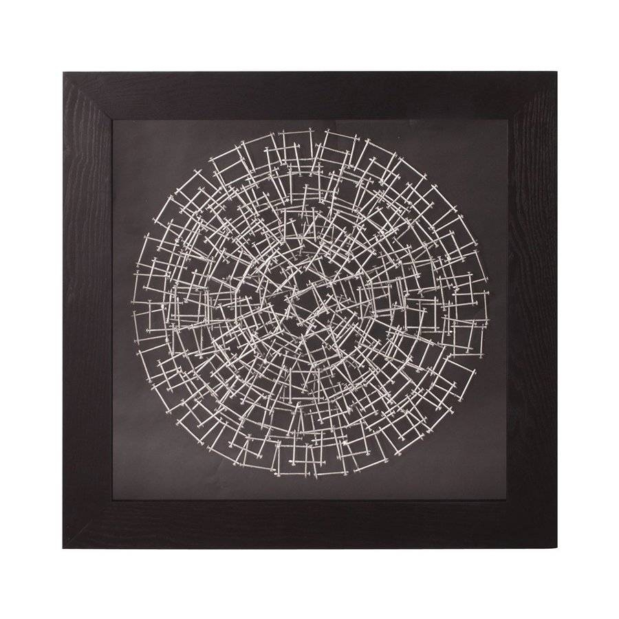 Shop Tyler Dillon 32 In W X 32 In H Framed Metal Silver Nails 3D Pertaining To Most Recently Released Framed Metal Wall Art (View 9 of 20)