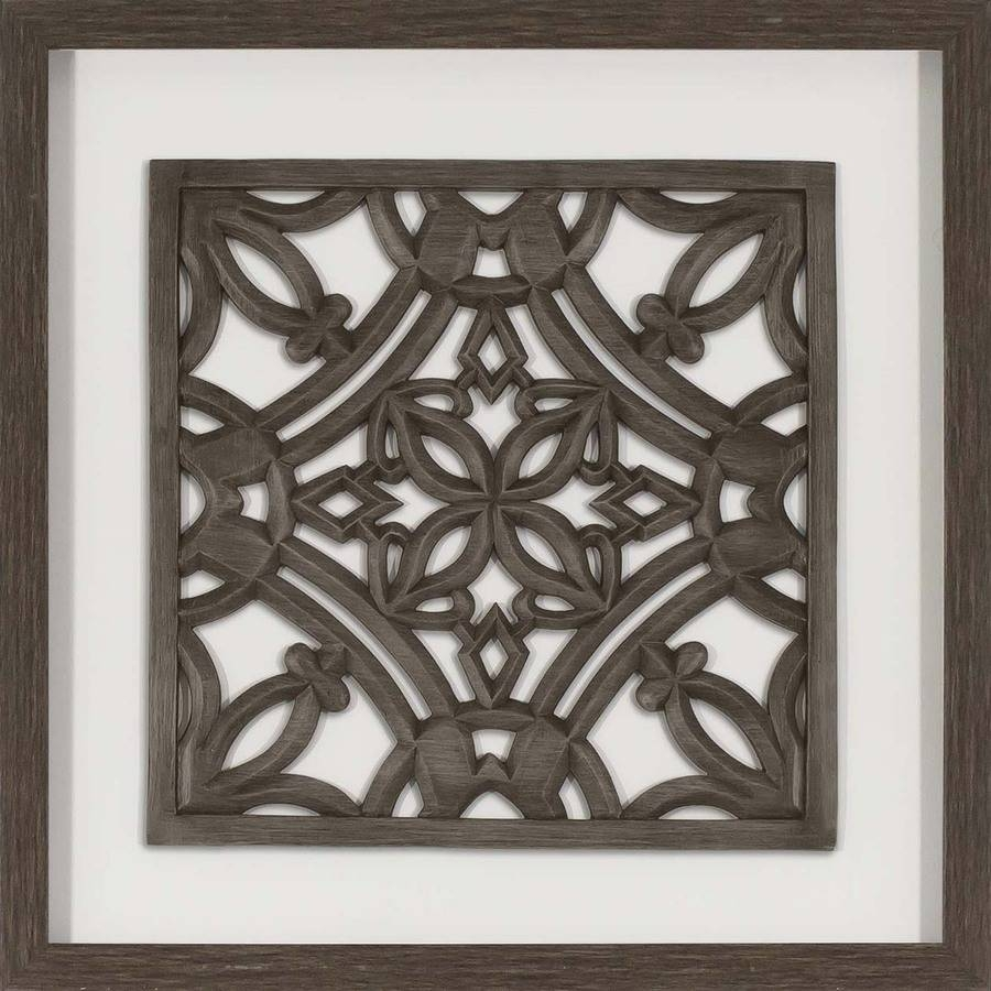Shop Wall Art At Lowes Throughout Current Wood Framed Metal Wall Art (View 2 of 20)