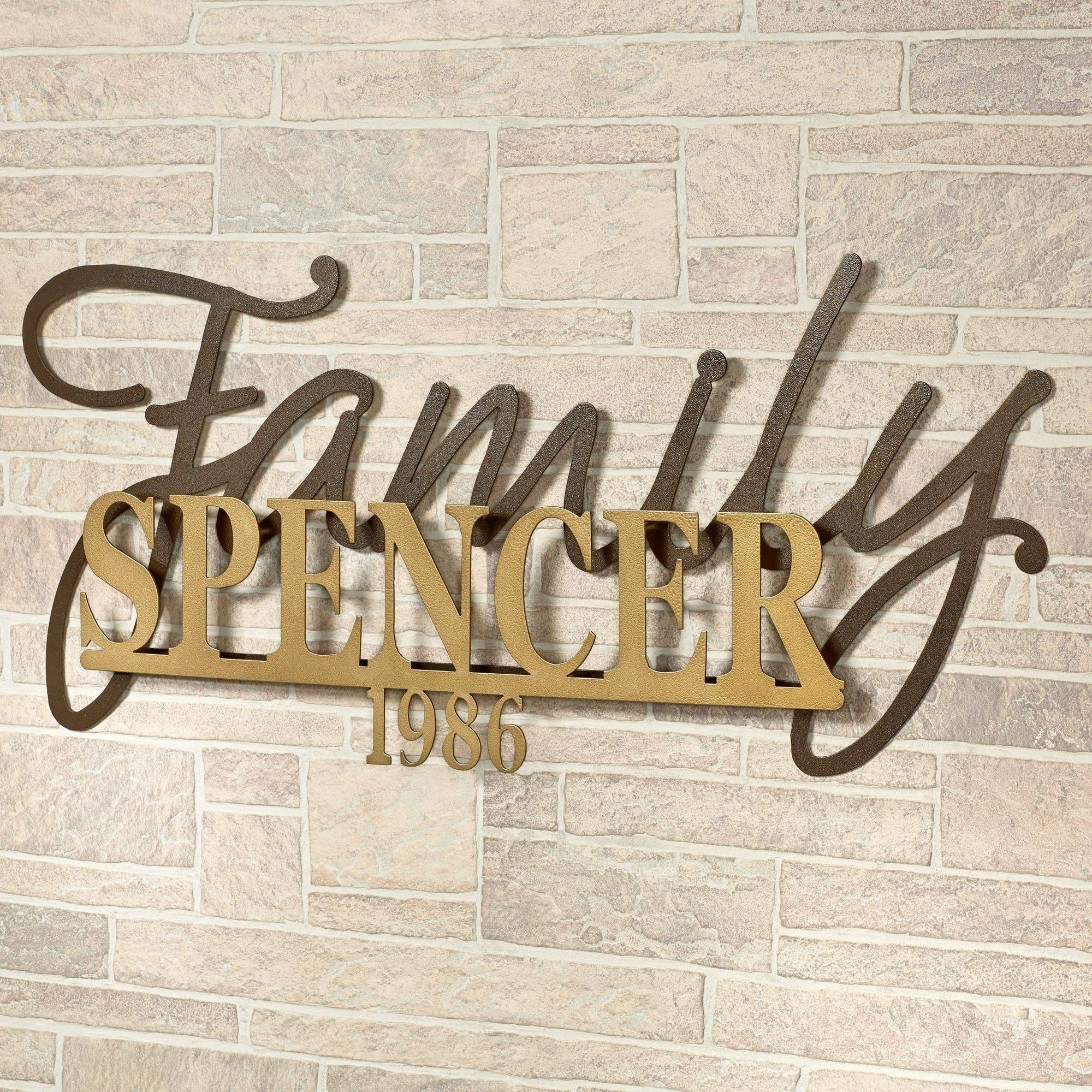 Signature Established Year Personalized Metal Wall Art Sign With Regard To Most Recent Family Metal Wall Art (View 16 of 20)