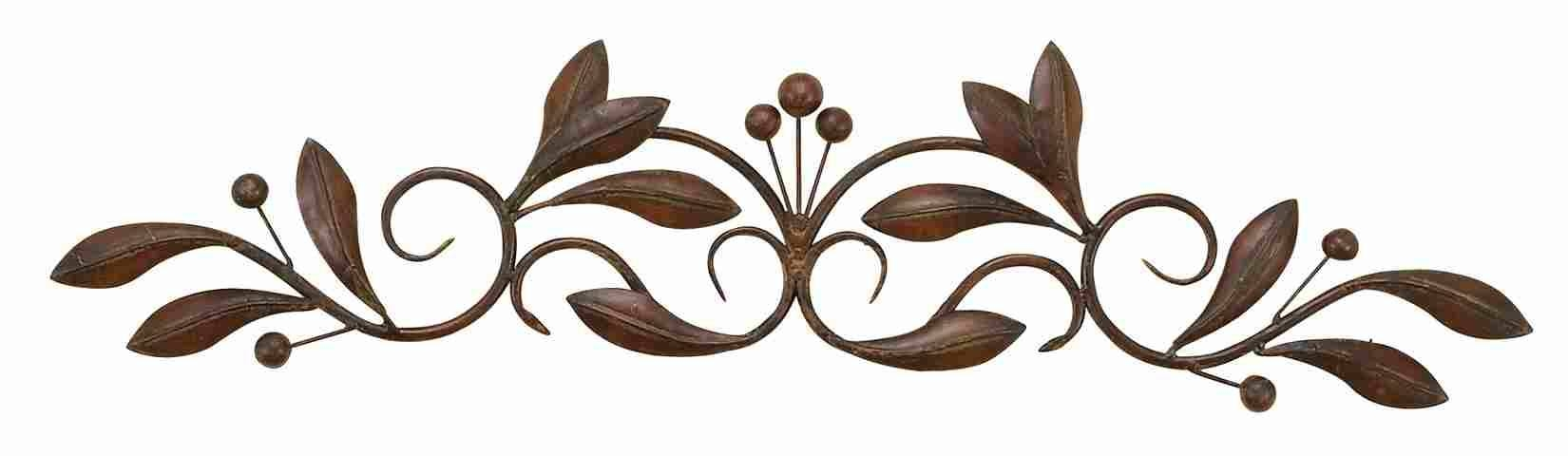 Small Buds & Vines – Metal Wall Art Scroll For Recent Scrolled Metal Wall Art (Gallery 1 of 20)