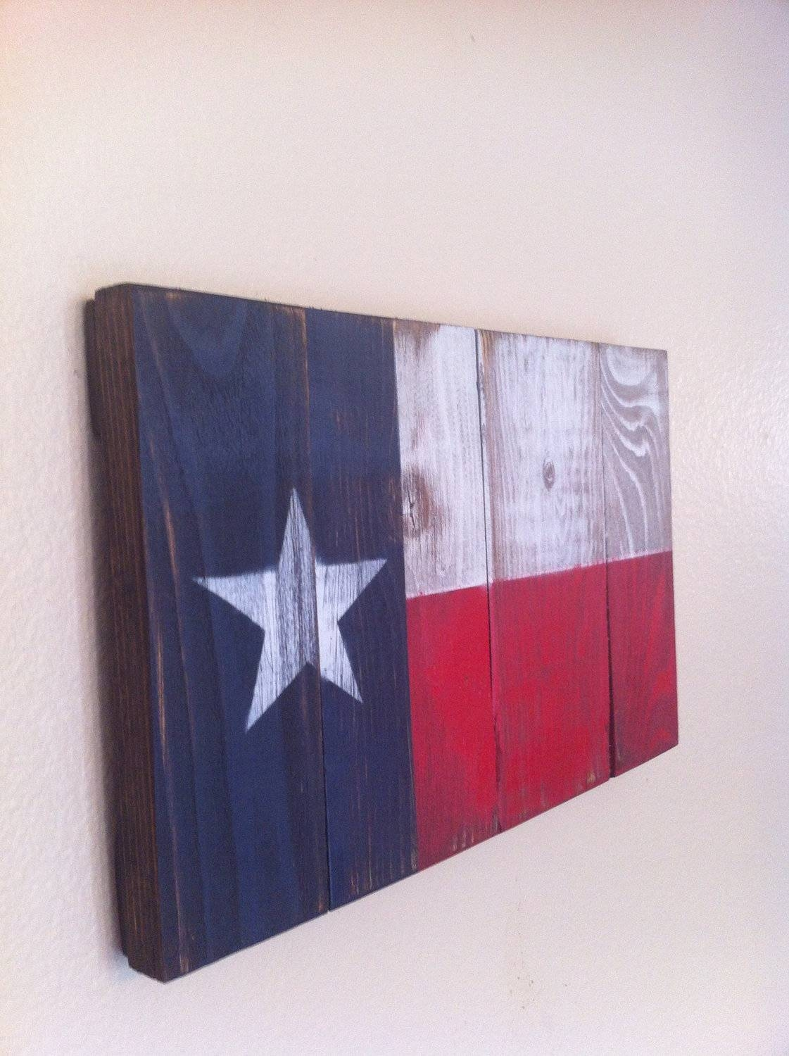 Small Texas State Flag Wall Art Intended For Best And Newest Texas Metal Wall Art (View 7 of 20)