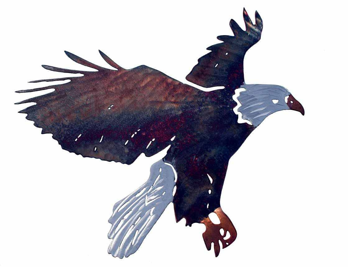Smw114S Metal Wall Art Eagle Flying Small – Sunriver Metal Works With Regard To Most Up To Date Eagle Metal Wall Art (View 12 of 20)