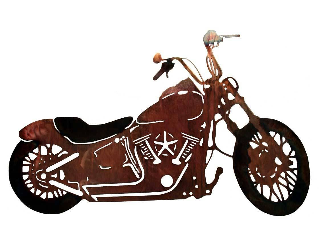 Smw117 Custom Metal Motorcycle Wall Art Night Train – Sunriver In Current Motorcycle Metal Wall Art (View 15 of 20)
