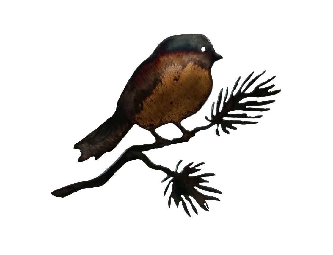 Smw149 Metal Bird Wall Art Chickadee – Sunriver Metal Works With 2017 Birds On A Branch Metal Wall Art (View 18 of 20)