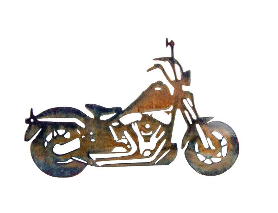 Smw186 Custom Metal Motorcycle Wall Art Ape Hanger – Sunriver Pertaining To Most Recent Motorcycle Metal Wall Art (View 11 of 20)