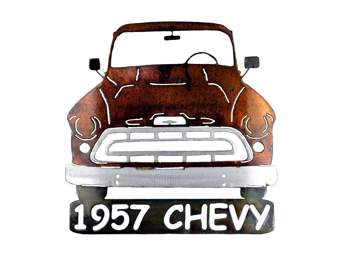 Smw267 Metal 1957 Chevy Truck Wall Art – Sunriver Metal Works Inside Most Recently Released Car Metal Wall Art (View 12 of 20)