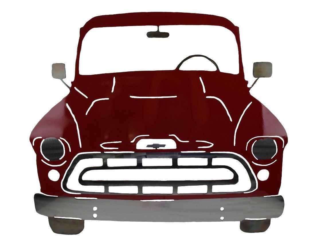 Smw267c Custom Metal 1957 Classic Chevy Truck – Sunriver Metal Works Inside 2018 Car Metal Wall Art (View 13 of 20)