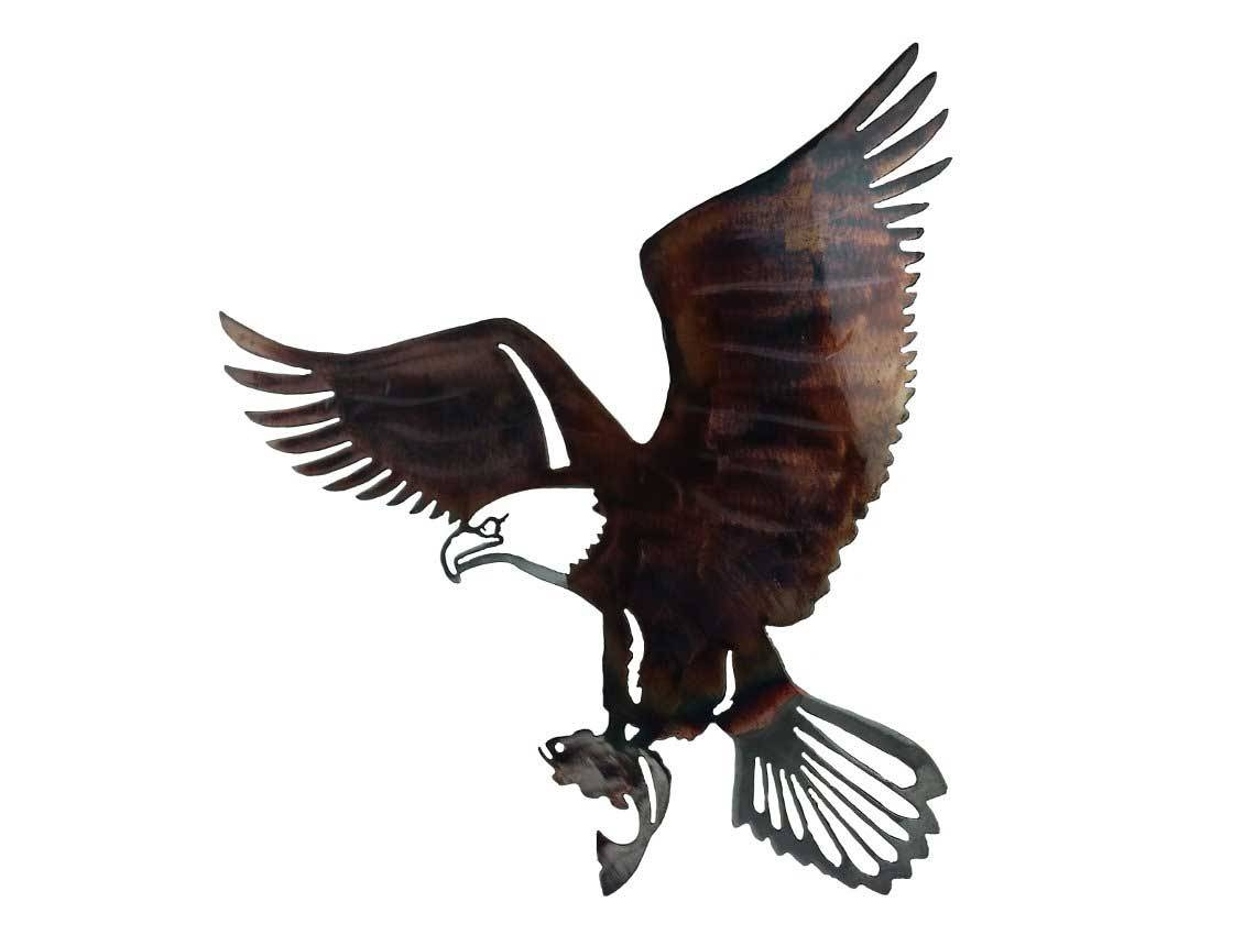 Smw418 Metal Decor Wall Art Eagle Fish – Sunriver Metal Works Intended For 2018 Eagle Metal Wall Art (View 8 of 20)