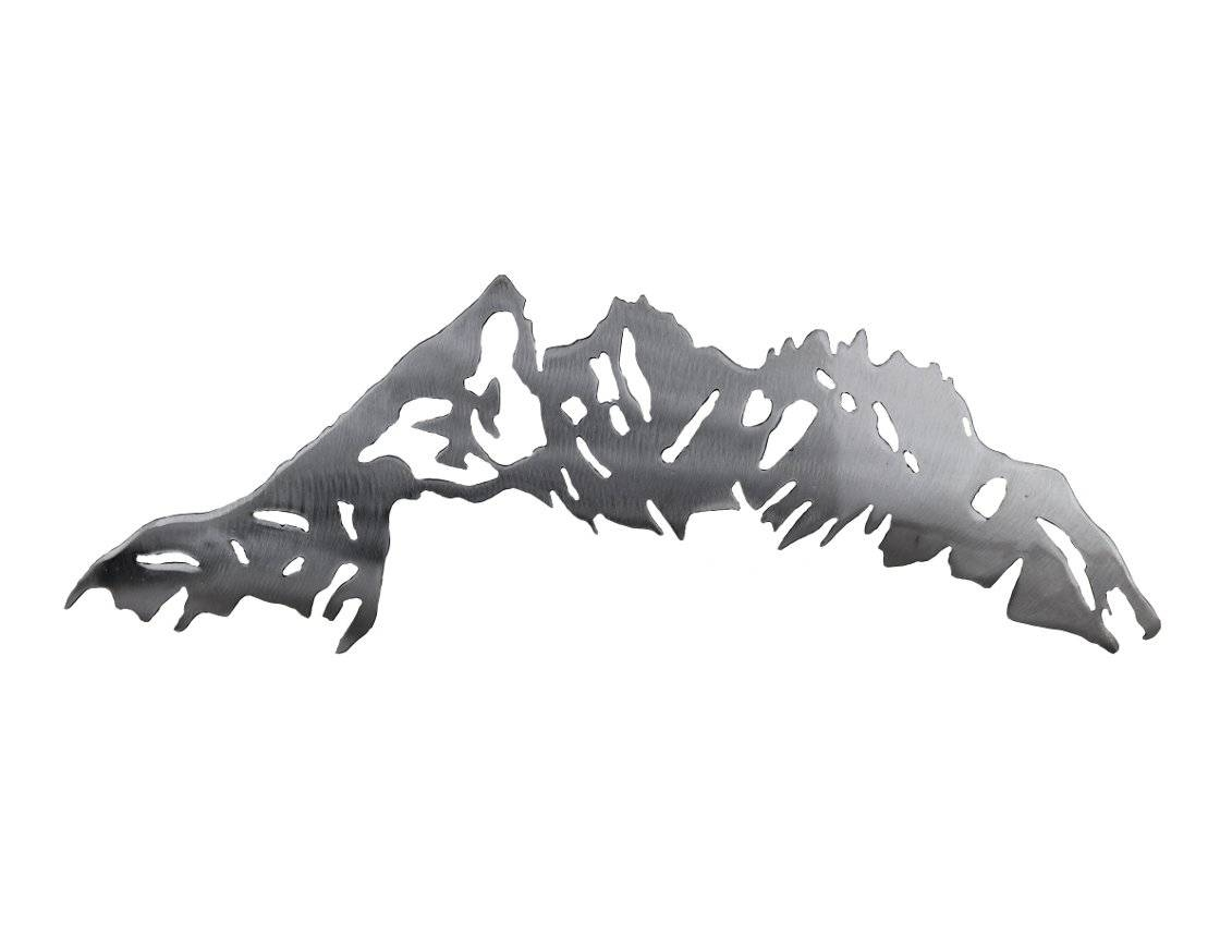 Smw580 Custom Metal Mountain Wall Art – Sunriver Metal Works For Most Current Mountains Metal Wall Art (View 14 of 20)