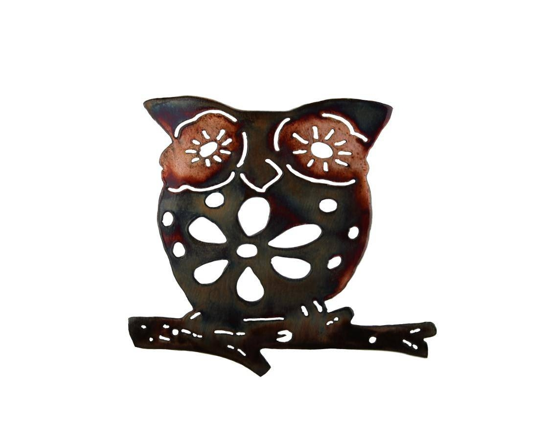 Smw620 Metal Owl Wall Art – Sunriver Metal Works In 2017 Owls Metal Wall Art (View 15 of 20)