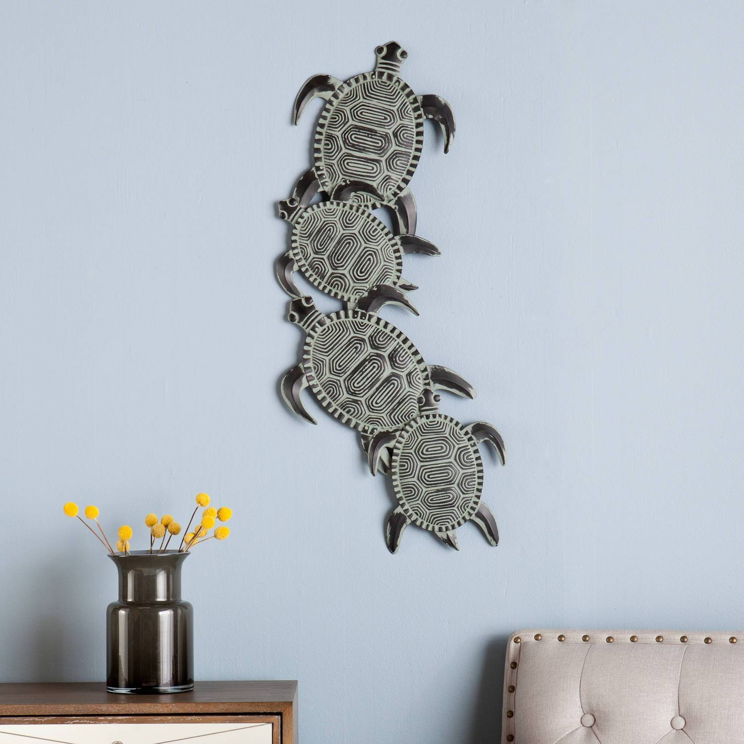 Southern Enterprises Metal Turtle Wall Art – Walmart Regarding Latest Owls Metal Wall Art (View 9 of 20)