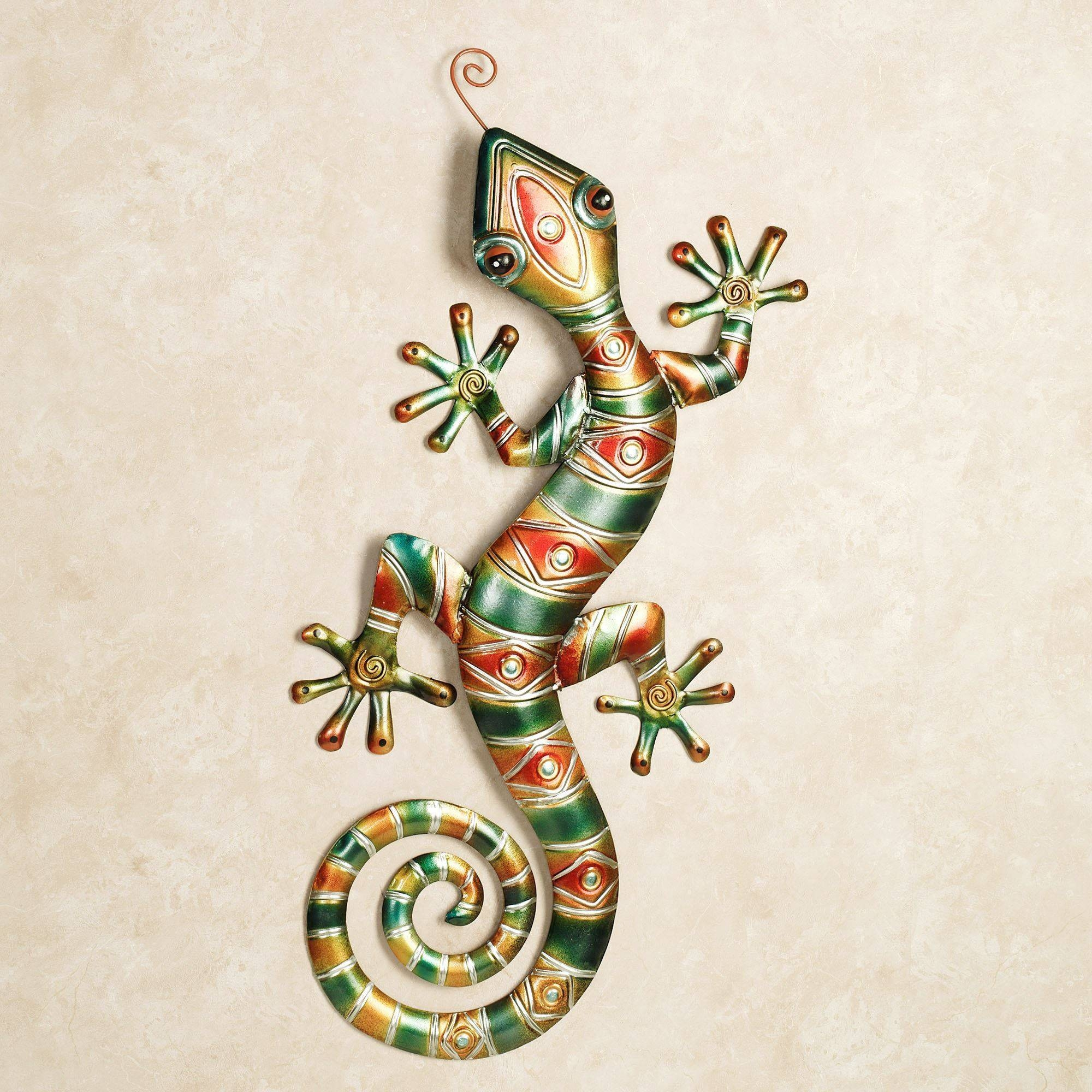 Southwest Gecko Metal Wall Art Intended For Most Popular Gecko Metal Wall Art (View 15 of 20)