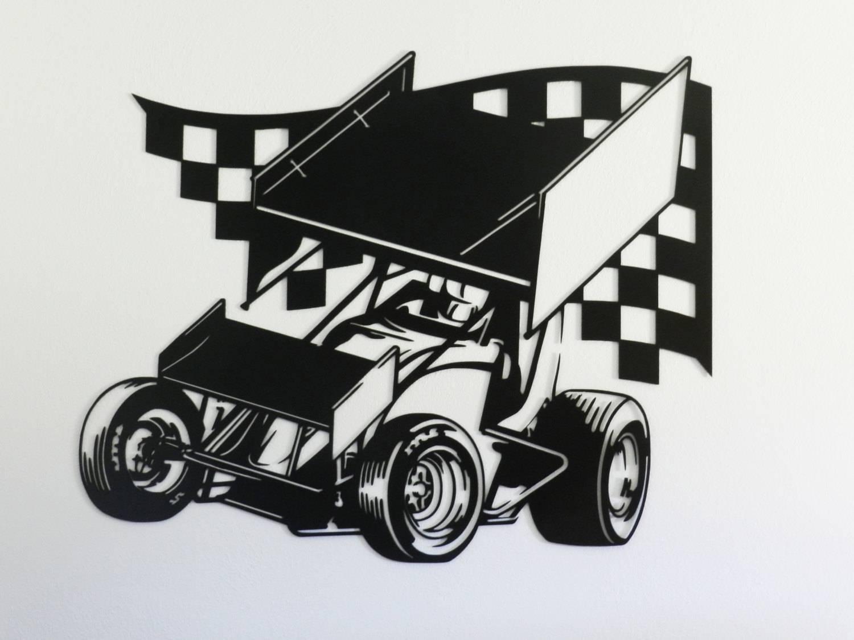Sprint Car Racing Metal Wall Art Regarding Newest Car Metal Wall Art (View 11 of 20)