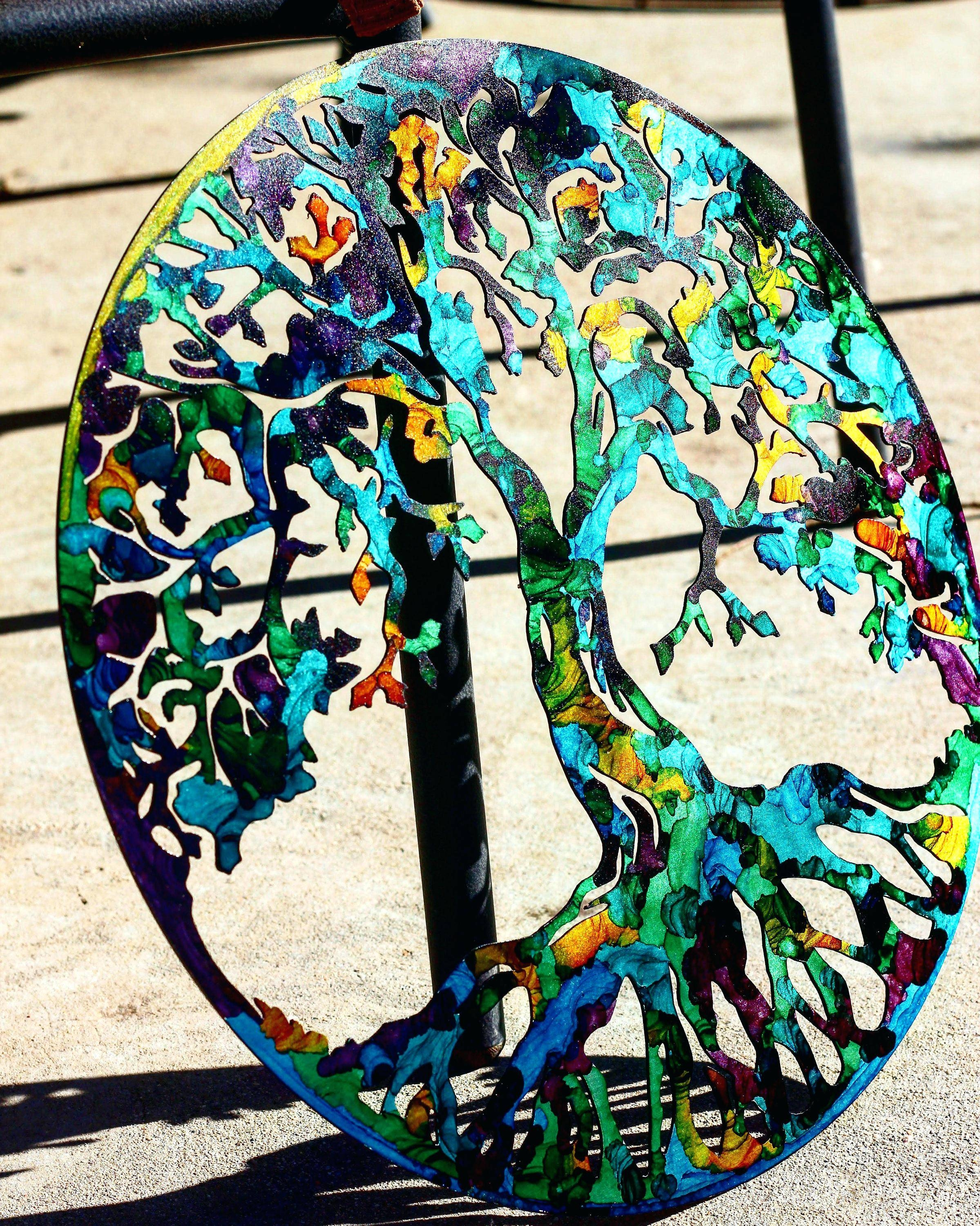 Stained Glass Wall Hangings Tree Of Life Tree Wall Art Tree Art With 2017 Glass And Metal Wall Art (View 12 of 20)