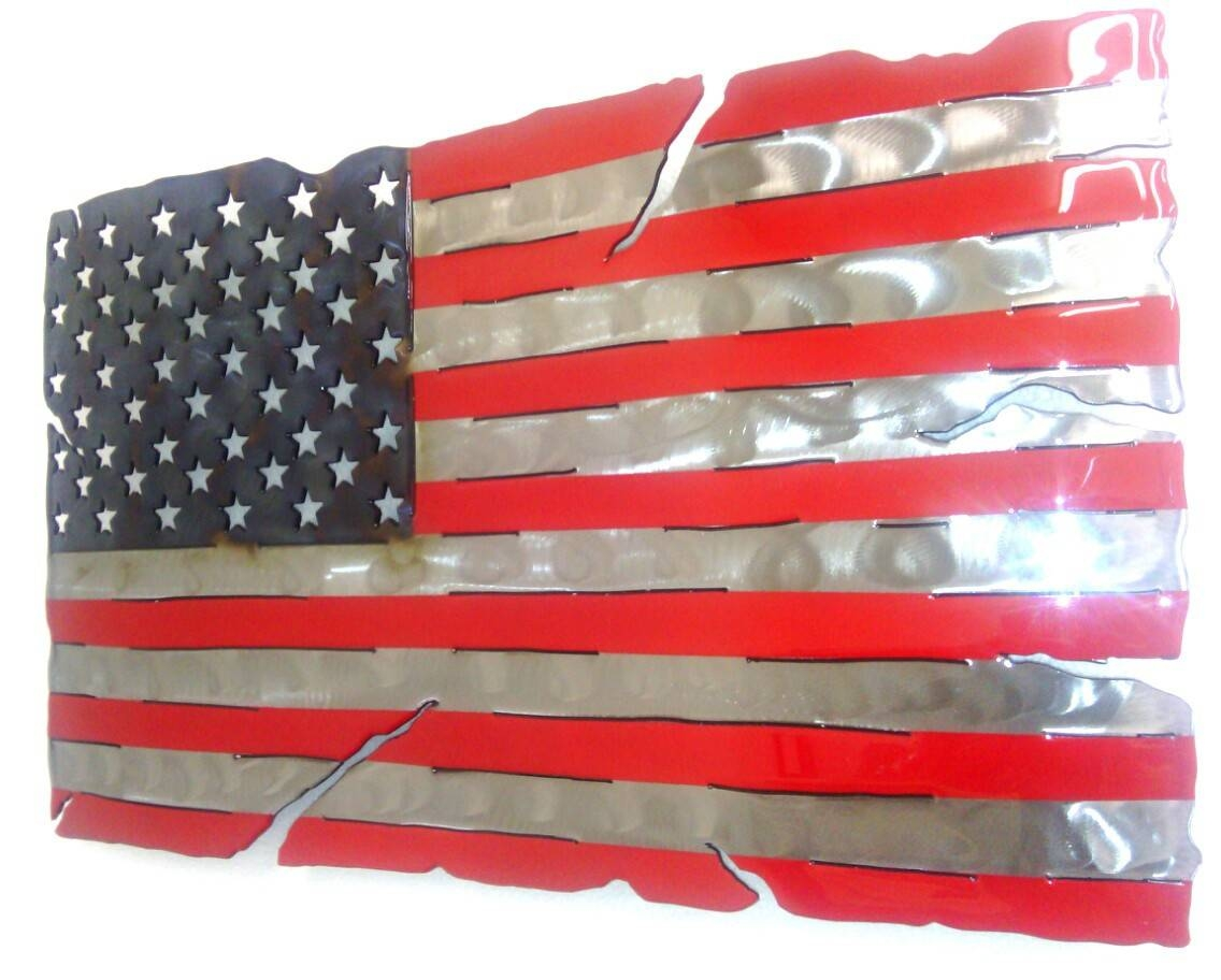 Star Spangled Banner Metal Art Within Newest American Flag Metal Wall Art (View 10 of 20)